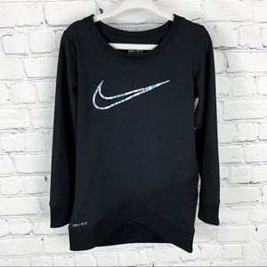 Nike DriFit Crossover Swoosh Tunic Pullover Shirt